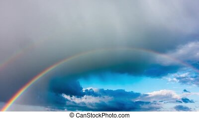 Rainbow in the sky after the rain,