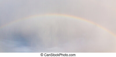rainbow in the sky after the rain