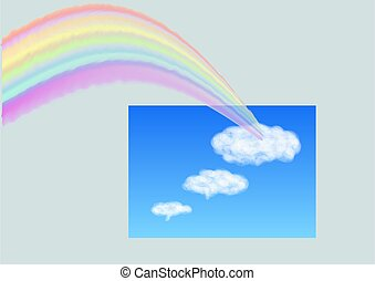 rainbow in the sky