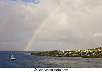 Rainbow Into Ferry