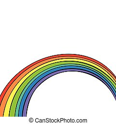 rainbow isolated on white background