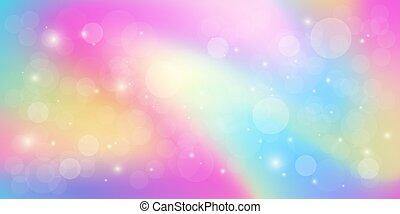 Rainbow light abstract bokeh background vector