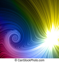 rainbow light spiral
