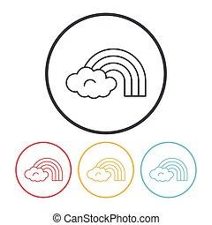 rainbow line icon