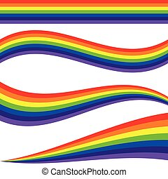 rainbow line illustration