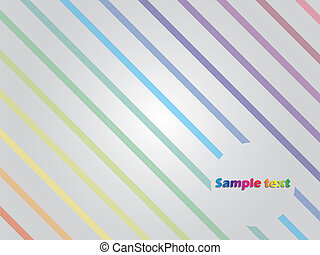 Rainbow lines - Abstract rainbow lines with gray background...