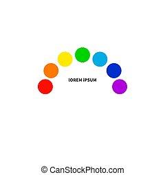 Rainbow logo, LGBT symbol, night club icon. Stock vector