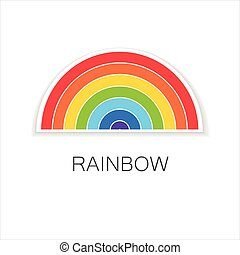 rainbow logo rainbow template logo symbol of happiness and success