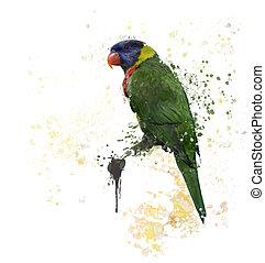 Rainbow Lorikeet Watercolor