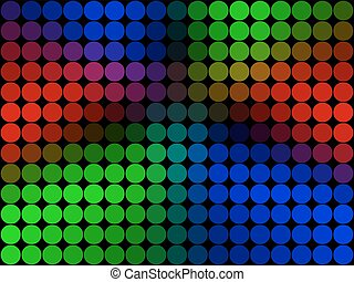 Rainbow low poly circle style vector mosaic background