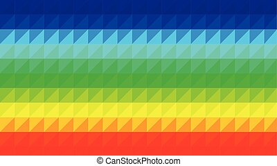 Rainbow Low Poly Vector Background - Colorful polygonal...