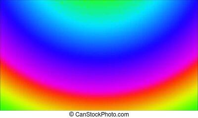 Animation of illustration rainbow Marble seamless loop