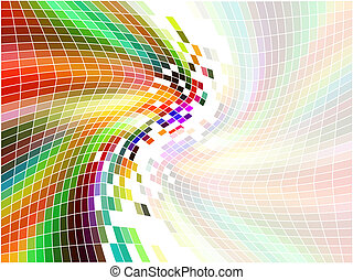rainbow mosaic - Abstract mosaic background with rainbow...