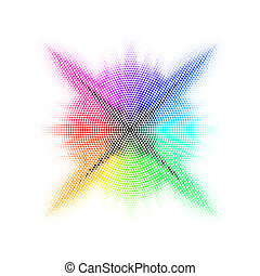 Rainbow mosaic.
