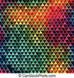 rainbow mosaic seamless pattern