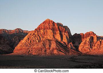 Rainbow Mountain at sunrise