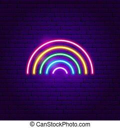 Rainbow Neon Sign