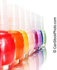 Rainbow of Nail Polish