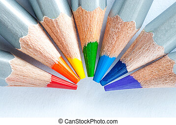 Rainbow of pencils
