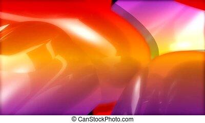 Rainbow of swirls