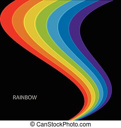 Rainbow on a black background