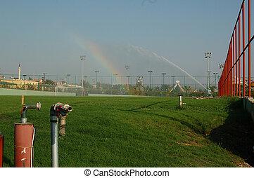 rainbow on a golf course