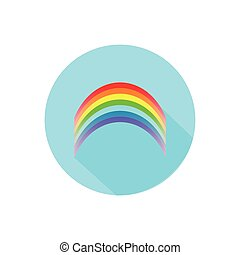 rainbow. on a white background in a bright circle