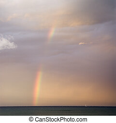 Rainbow on Maui coast.
