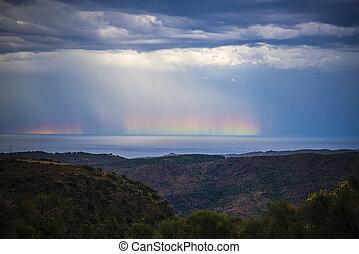 Rainbow on the sea