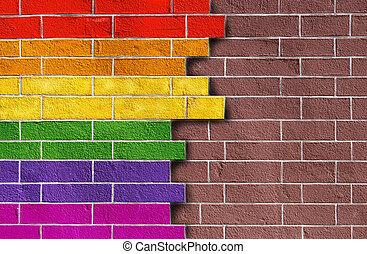 Rainbow on wall two