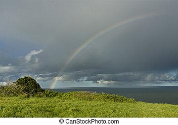 Rainbow over Ocean 05