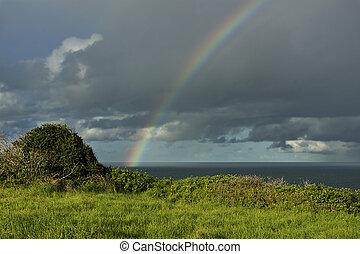 Rainbow over Ocean 06