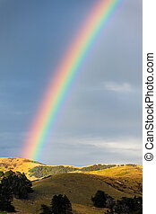 Rainbow over the Otago peninsular
