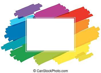 Rainbow Paintbrush Horizontal