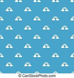 Rainbow pattern vector seamless blue