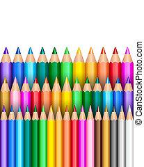 Rainbow pencil background