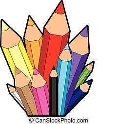 Rainbow Pencil City Icon
