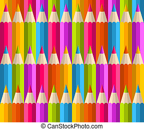 Rainbow pencils pattern