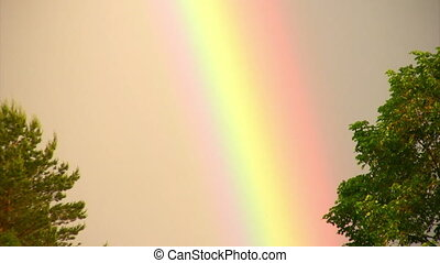 Rainbow phenomenon - Natural phenomenon of a rainbow after...