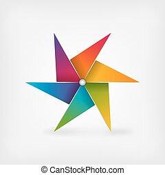 rainbow pinwheel symbol