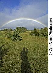 Rainbow, Pleasant Bay, Cape Breton Highlands National Park,...