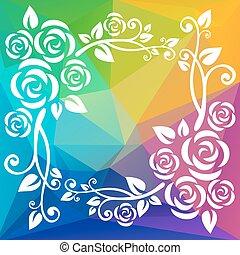 rainbow polygonal border