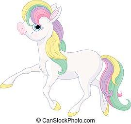 Rainbow Pony Walking