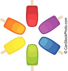 Rainbow Popsicles In a Circle