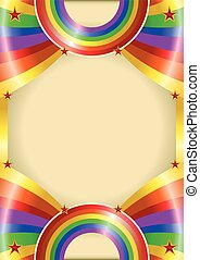 Rainbow poster - A rainbow color poster for your advertising...
