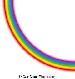 Rainbow Quarter Circle Quadrant