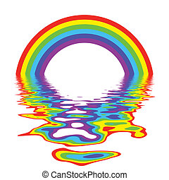 Rainbow Reflection - A Colourful Rainbow and Reflection ...