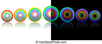 Rainbow rings for your design