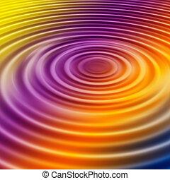 Rainbow Ripple - Rainbow water ripple background or...