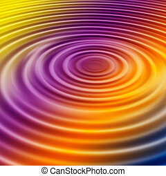 Rainbow Ripple - Rainbow water ripple background or...